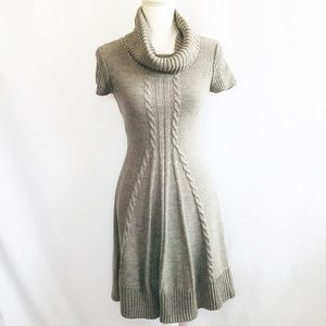 J Howard Gray Winter Knit Sweater Dress